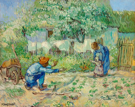 First Steps, after Millet (1890) by Vincent Van Gogh. Original f